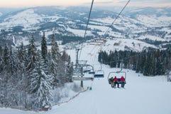 Подъем лыжи гор Стоковое Изображение