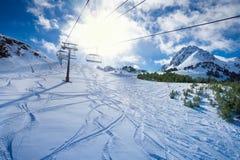 Подъем лыжи Стоковые Изображения