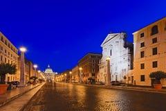 Подъем Asim дороги Ватикана стоковое фото rf