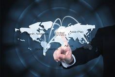 Польза глобальных партнеров графическая для предпосылки импорта/экспорта Стоковое Фото