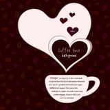 польза кофе предпосылки готовая Стоковое Изображение RF