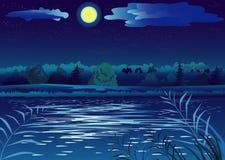 польза таблицы фото ночи ландшафта установки изображения предпосылки красивейшая Стоковое Фото