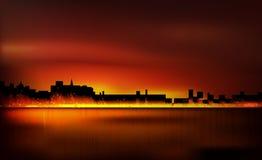 польза таблицы фото ночи ландшафта установки изображения предпосылки красивейшая Стоковые Изображения RF