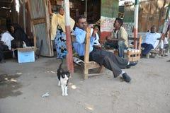 Польза Khat людей во время встречи в кафе. Стоковые Изображения RF