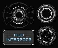 Пользовательский интерфейс касания концепции футуристический белый виртуальный графический Стоковая Фотография