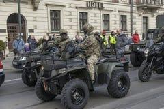 Польская армия - сегодня Стоковая Фотография