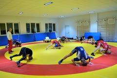 Польская национальная Wrestling тренировка лиги Стоковые Изображения