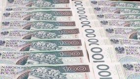 Польская предпосылка денег Стоковое Изображение RF