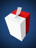 Польская урна для избирательных бюллетеней Стоковое Изображение