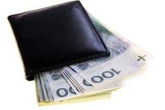 Польские банкноты 100 злотых Стоковое фото RF