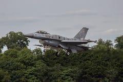 Польские земли F16 военновоздушной силы на RIAT Стоковая Фотография RF