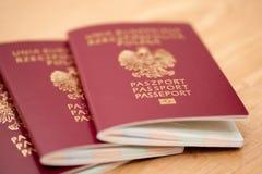 Польские пасспорты стоковая фотография