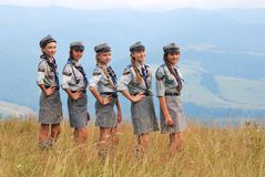 Польские разведчики девушек стоковое изображение