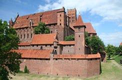 Польский замок Мальборка Стоковая Фотография RF