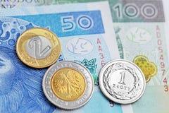 Польский злотый - новые банкноты Стоковая Фотография RF