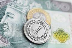 Польский злотый - новые банкноты Стоковое Изображение RF