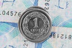 Польский злотый Стоковая Фотография