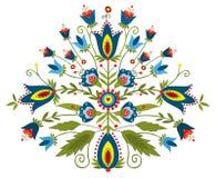 Польский дизайн вышивки - воодушевленность Стоковое Изображение