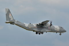 Польский самолет военновоздушной силы Стоковая Фотография