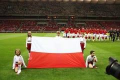 Польский флаг Стоковые Изображения