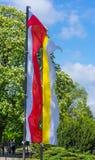 Польский флаг Стоковое Изображение