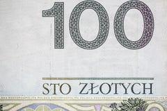 100 польских счетов Стоковая Фотография RF