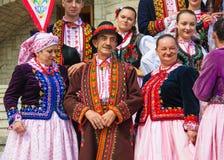 Польское традиционное платье Стоковые Изображения