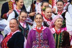 Польское традиционное платье Стоковое Изображение