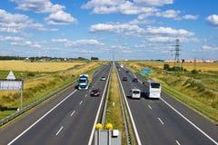 Польское шоссе A4 около Гливица стоковое изображение