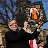 Польское 'aw Komorowski президента BronisÅ стоковое фото