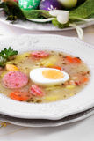 Польское Zurek, суп пасхи Стоковые Изображения RF