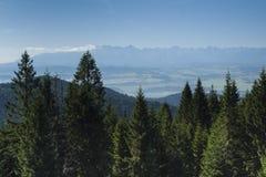 Польша, панорамное Viev гор Tatra стоковая фотография