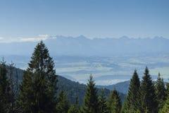 Польша, панорамное Viev гор Tatra стоковые фото