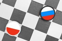 Польша ПРОТИВ России Стоковое Изображение RF