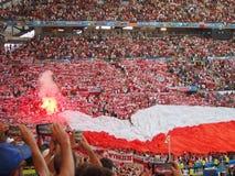 Польша дует пирофакелы Стоковая Фотография