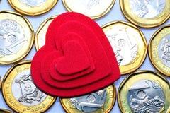 Полюбите деньги Стоковое Изображение RF