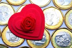 Полюбите деньги Стоковая Фотография RF