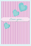 Полюбите поздравительную открытку Стоковое Фото