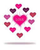 Влюбленность формулирует принципиальную схему Стоковые Изображения