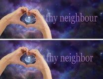 Полюбите thy ближнего соседа Стоковые Фотографии RF