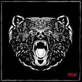Полюс Totem Изображение вектора в стиле абстрактного искусства, сделанном в немножко психоделическом образе Стоковое Изображение RF