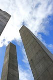 Поляки бетона армированного Стоковые Изображения