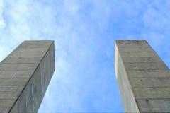 Поляки бетона армированного Стоковые Фотографии RF