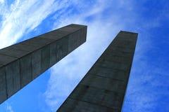Поляки бетона армированного Стоковое фото RF