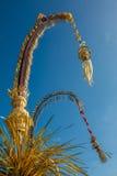 Поляки для торжества Galungan, остров Penjor Бали, Индонезия Стоковое Изображение
