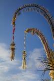 Поляки для торжества Galungan, остров Penjor Бали, Индонезия Стоковое Изображение RF