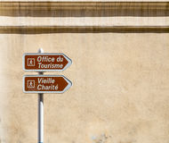 Поляк знака уличного движения в Франции Стоковые Изображения