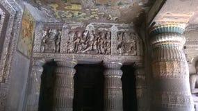 Поляк конструированный дверью в пещере 2 Ajantha Стоковое Изображение