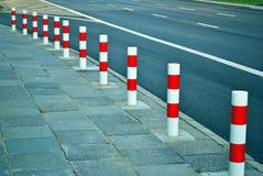 Поляк дорожного блока в прямой линии Стоковое фото RF