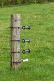 Поляк с электрической загородкой Стоковая Фотография RF
